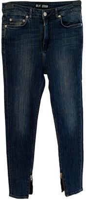 BLK DNM Blue Cotton - elasthane Jeans for Women