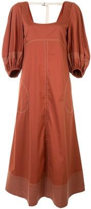 Lee Mathews Sara puff sleeve dress