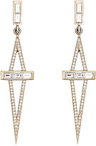 Monique Péan Women's White Diamond Geometric Drop Earrings