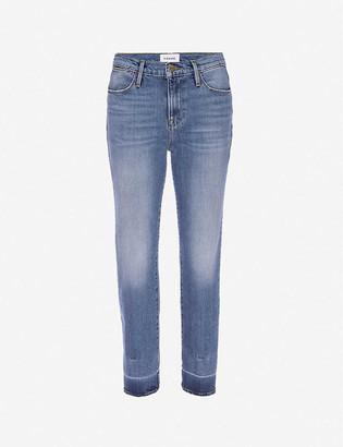 Frame Le High Straight high-rise stretch-denim jeans
