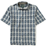 Woolrich Overlook Dobby Plaid Eco Rich Short-Sleeve Woven Shirt
