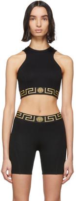 Versace Underwear Black Medusa Tank Top