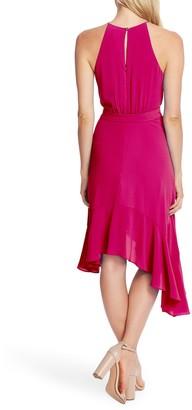 Cece By Cynthia Steffe Asymmetrical Cascading Ruffle Hem Dress