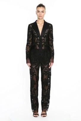 Marchesa Damask Lace Suit Jacket and Pant