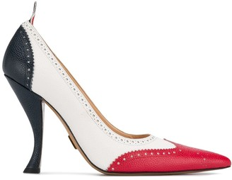 Thom Browne Brogued Long Point Pumps