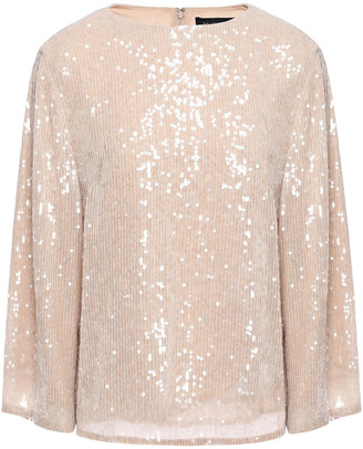 Sally LaPointe Sequin-embellished Georgette Blouse