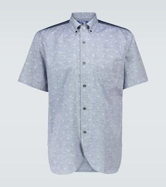 Junya Watanabe Floral cotton and linen-blend shirt