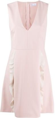 RED Valentino Ruffle Front Mini Dress