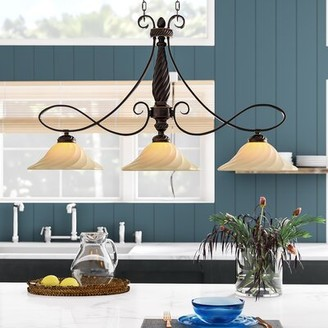 Darby Home Co Hoopeston 3 - Light Kitchen Island Linear Pendant