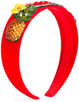 Dolce & Gabbana pineapple patch hair band - kids - Polyester/plastic - One Size