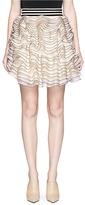 Alexander McQueen 3D ruffle mesh knit mini skirt