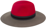 Magid Red & Taupe Floppy Hat