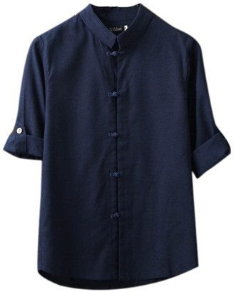 Huateng Men Retro Blouse