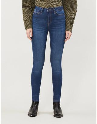 Noisy May Lucy Powershape skinny high-rise stretch-denim jeans
