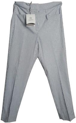 Cappellini Blue Cotton Trousers for Women
