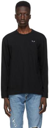 Comme des Garcons Black Monochrome Heart Patch Long Sleeve T-Shirt