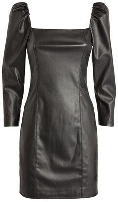 Alice + Olivia Frances Faux Leather Mini Dress