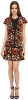 Just Cavalli Jersey Charlotte Cheetah Print Cap Sleeve Dress