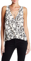 Lush Strappy Sleeveless Surplice Blouse