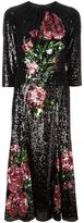 Dolce & Gabbana rose embroidered sequin dress - women - Silk/Cotton/Polyamide/Spandex/Elastane - 42