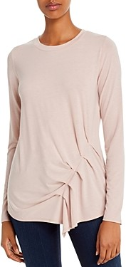 Andrew Marc Asymmetric Pleat-Front Tee