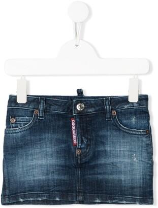DSQUARED2 Low-Rise Denim Skirt