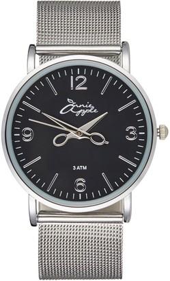 Bermuda Watch Company Annie Apple Alore Black/Silver Mesh Hairdresser Scissor Hands Watch
