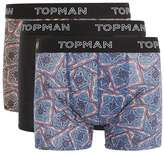 Topman Assorted Colour Paisley Print Trunks 3 Pack