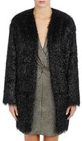 Lanvin Women's Tinsel-Fringed Collarless Coat