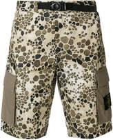Stone Island alligator camouflage shorts