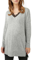 Topshop MATERNITY Lace Insert Wool-Blend Top