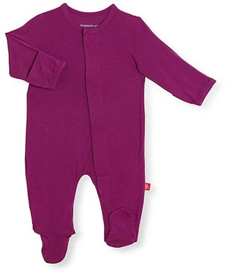 Magnetic Me Baby Girl's Silky Soft Solids Footie
