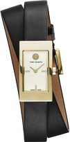 Tory Burch The Buddy Signature double-wrap gold-toned stainless steel watch
