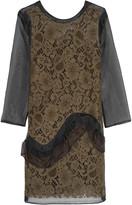 MSGM Corded lace and organza mini dress