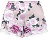 Fleur Du Mal 'Charlotte' lace tap shorts - women - Silk - M