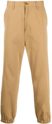 Gucci Logo-Embroidered Tapered Chinos