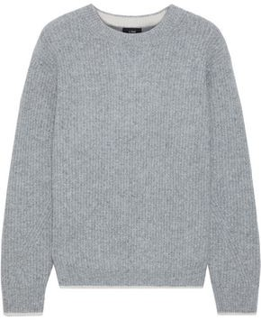 Line Ribbed Merino Wool-blend Sweater