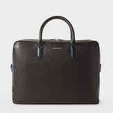 Paul Smith Men's Black Leather 'Cycle Stripe' Detail Business Folio