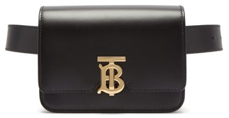 Burberry Monogram-clasp Leather Belt Bag - Black