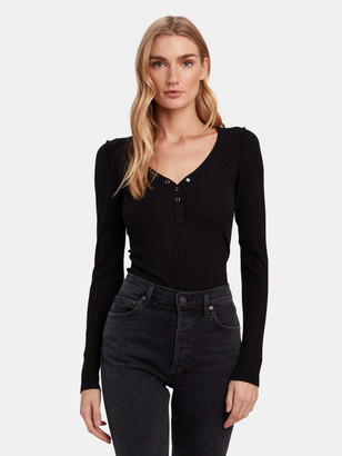 NSF Indie Front Snap Henley Top