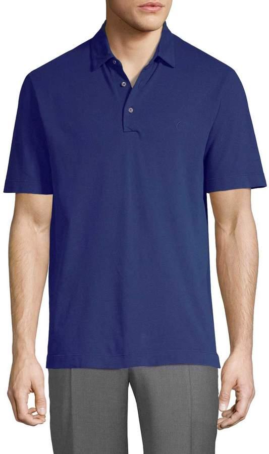 Canali Men's Knit Polo Shirt
