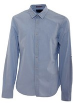Scotch & Soda Men's Light Blue Cotton Shirt.