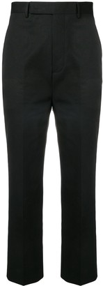 Rick Owens Cropped Pleated Trousers