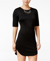 As U Wish Juniors' Bodycon Dress with Necklace