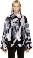 J.W.Anderson Pink & Grey Jacquard Kimono Sweater