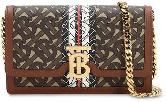 Burberry CARRIE MONOGRAM & CANVAS WALLET CHAIN