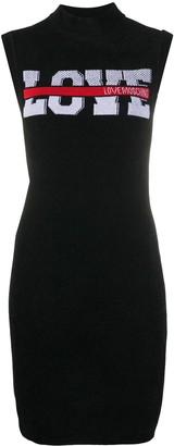Love Moschino Love sleeveless knitted mini dress
