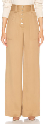 Jonathan Simkhai Structured Carpenter Pant in Ochre | FWRD