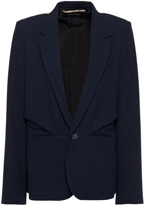 Roland Mouret Pleated Wool-crepe Blazer