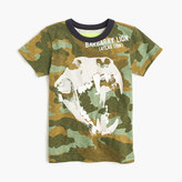 J.Crew Boys' camo T-shirt with glow-in-the-dark lion skull